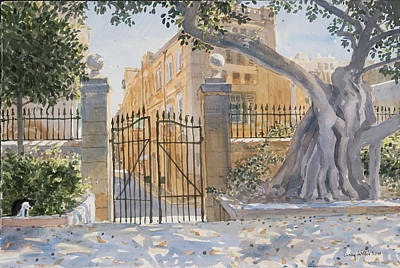 Valletta Painting - The Ancient Tree by Lucy Willis