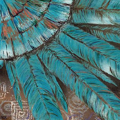 Bluejay Mixed Media - The Ancients by Brenda Erickson