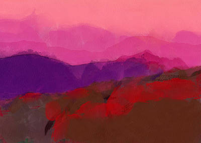 Digital Art - The Andes Landscape by Yury Malkov