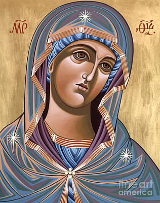 Painting - The Andronicus Icon Of The Mother Of God Consoler Of Women 123 by William Hart McNichols