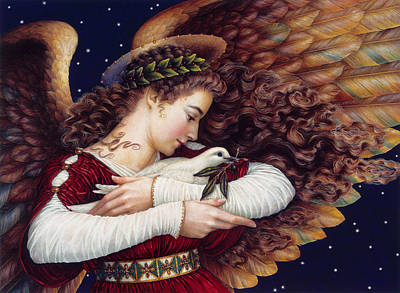 Painting - The Angel And The Dove by Lynn Bywaters