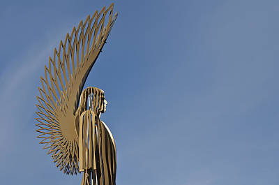 Wales Photograph - The Angel Of Bargoed 5 by Steve Purnell