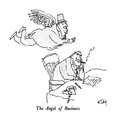 Angel Drawing - The Angel Of Business by William Steig