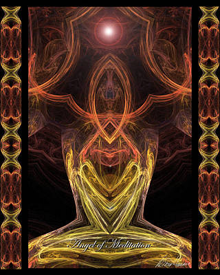 Digital Art - The Angel Of Meditation by Diana Haronis