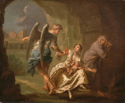 Mercy Painting - The Angel Of Mercy, Joseph Highmore, 1692-1780 by Litz Collection