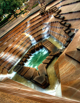 Water Garden Photograph - The Angle - Fort Worth Water Garden  by Brian Orlovich