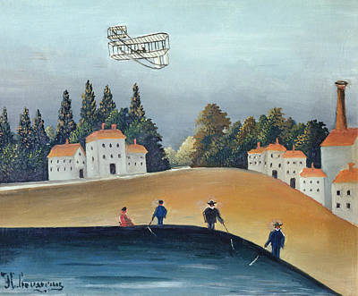 The Anglers, C.1908-09 Oil On Canvas Also See 309520 Art Print by Henri J.F. Rousseau