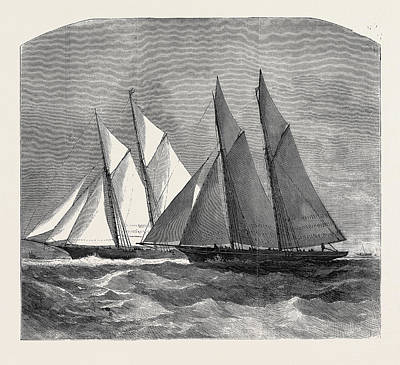 The Anglo-american Yacht Race Between The Sappho Art Print