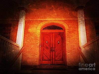 Photograph - The Angry Red Door by Becky Lupe