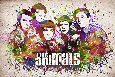 Keith Richards Wall Art - Digital Art - The Animals In Color by Aged Pixel