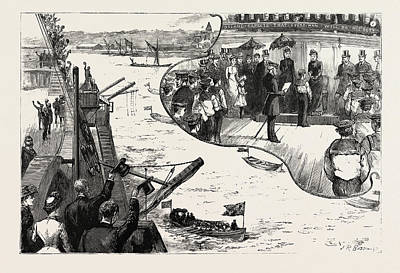 Popular Culture Drawing - The Annual Inspection Of The Training Ship Exmouth by English School