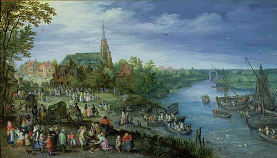 Marketplace Wall Art - Photograph - The Annual Parish Fair In Schelle, 1614 by Jan the Elder Brueghel