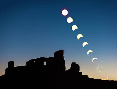 Photograph - The Annular Solar Eclipse Of 2012 by Ed Leckert