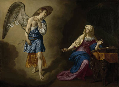 Annunciation Drawing - The Annunciation, Adriaen Van De Velde by Litz Collection