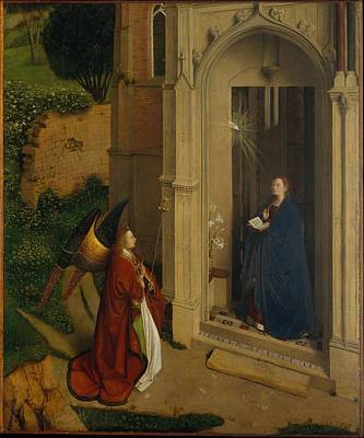 The Annunciation Art Print by Attributed to Petrus Christus