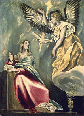 Digital Watercolor Painting - The Annunciation by Celestial Images