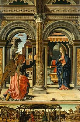 1470 Painting - The Annunciation by Francesco del Cossa