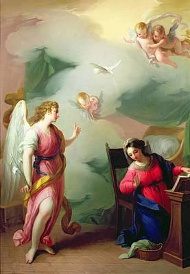 Dove Photograph - The Annunciation by Giuseppe Velasco or Velasquez
