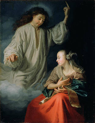 The Annunciation Godfried Schalcken, Dutch Art Print by Litz Collection
