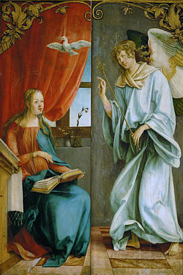 The Annunciation Art Print by Hans von Kulmbach