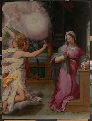 Candid Painting - The Annunciation by Peter Candid
