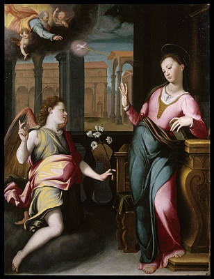 The Annunciation Art Print by Santi di Tito