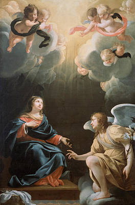Blessed Virgin Mary Painting - The Annunciation by Simon Vouet