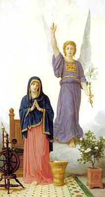 The Annunciation Print by William Bouguereau