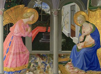 Angel Art Painting - The Annunciation by Zanobi Strozzi