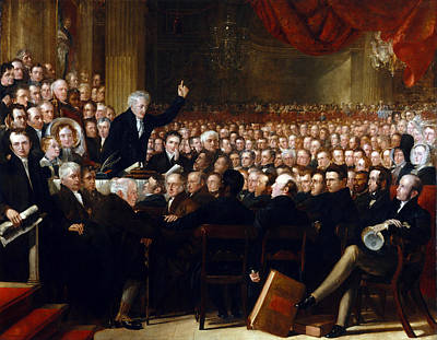Anti-slavery Painting - The Anti-slavery Society Convention 1840 by Benjamin Robert Haydon