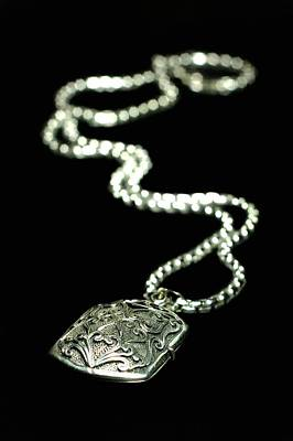 Sterling Silver Photograph - The Antique Locket by Diana Angstadt