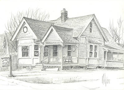 Arcadia Valley Drawing - The Antique Shop by Kip DeVore