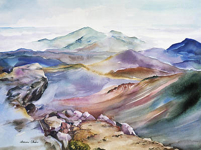 Painting - The Apex Of Mountain by Han Choi - Printscapes