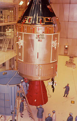 The Apollo 11 Spacecraft Being Prepared For Launch Art Print by Nasa/science Photo Library