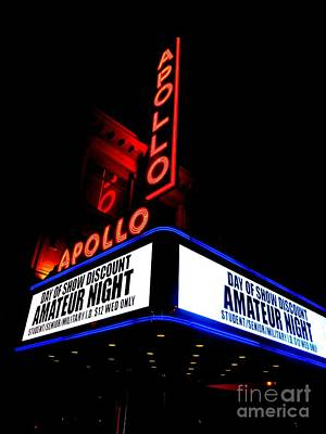 Apollo Theater Photograph - The Apollo Theater by Ed Weidman