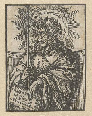 The Apostle Philip, Anonymous, Jacob Cornelisz Van Oostsanen Art Print by Anonymous And Jacob Cornelisz Van Oostsanen