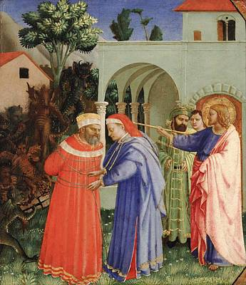 The Apostle Saint James The Greater Freeing The Magician Hermogenes Art Print