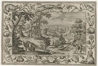 7-11 Drawing - The Apostles, Adriaen Collaert, Eduwart Van Hoeswinckel by Adriaen Collaert And Eduwart Van Hoeswinckel