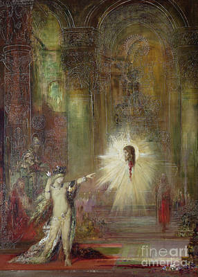 Moreau Painting - The Apparition by Gustave Moreau