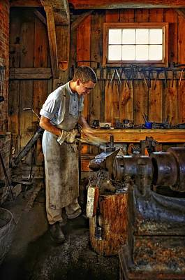 Antique Ironwork Photograph - The Apprentice Hdr by Steve Harrington