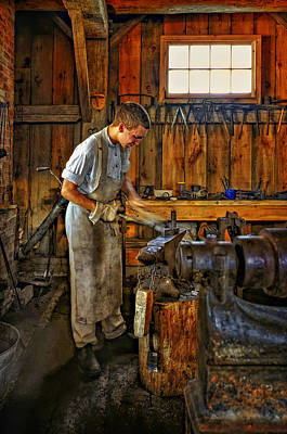 Antique Ironwork Photograph - The Apprentice by Steve Harrington