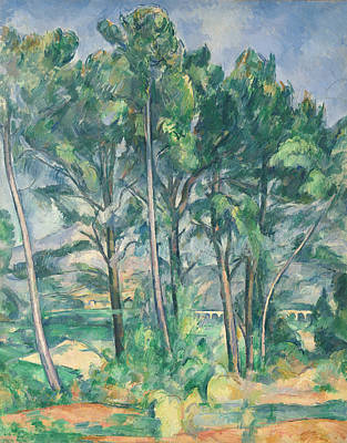 Post-impressionist Photograph - The Aqueduct Montagne Sainte-victoire Seen Through Trees, C.1885-87 Oil On Canvas by Paul Cezanne