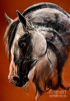 The Arabian Horse Art Print by Angel  Tarantella