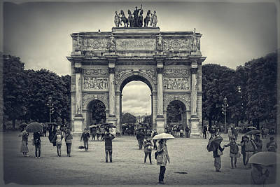 Photograph - The Arc De Triomphe Du Carrousel by Lucinda Walter