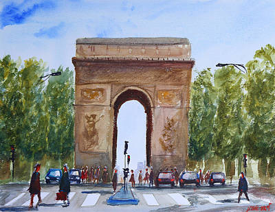 Painting - The Arc De Triomphe by Lior Ohayon