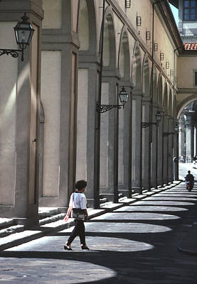The Arcade At The Arno Florence Art Print