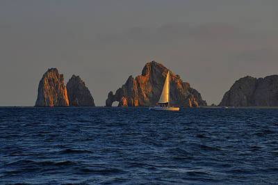 Boat Photograph - The Arch El Arco Cabo San Lucas by Christine Till