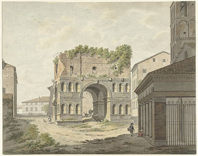 Quadri Drawing - The Arch Of Janus Quadri Fons And Part Of S by Quint Lox