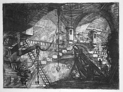 Digital Art - The Arch With A Shell Ornament by Giovanni Piranesi