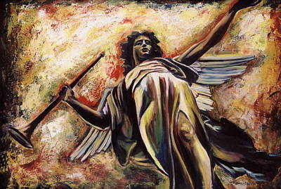 The Archangel Gabriel Original by Sheila Diemert